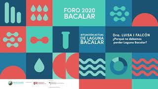 Dra. Luisa I Falcón Alvarez . Investigadora Titular B de TC . Foro 2020 Agua Clara Bacalar