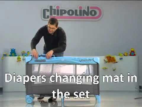 f5236a2578e7 Παρκοκρέβατο Chipolino Yasmin - ΛΗΤΩ Βρεφικά πολυκαταστήματα - YouTube