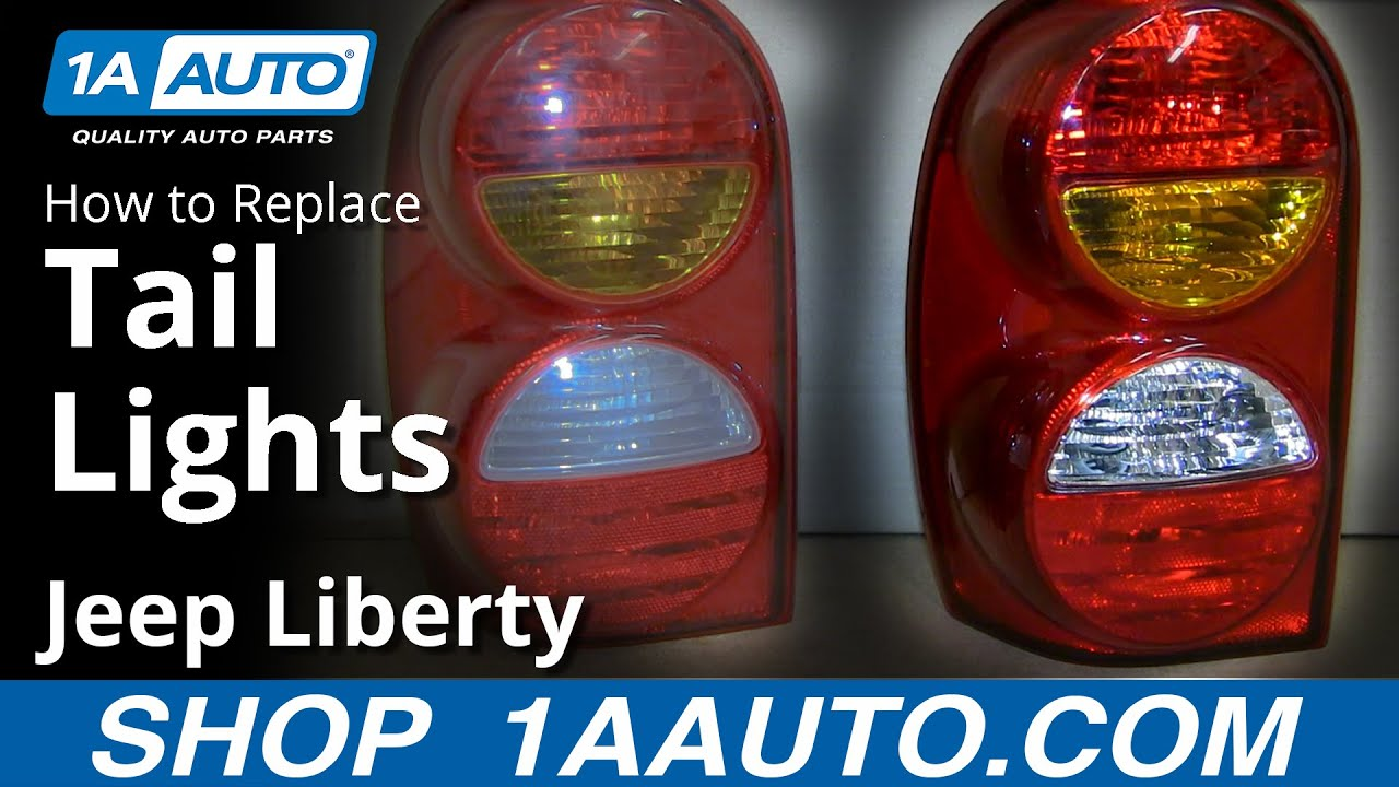 How To Replace Tail Light Embly 02 04 Jeep Liberty