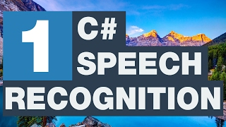 C# Speech Recognition - Sesi tanıma 1/3