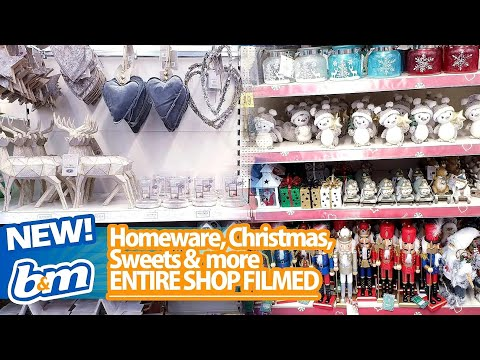 ENTIRE B&M SHOP WITH ME - B&M CHRISTMAS 2019, B&M HOMEWARE, B&M home decor, B&M new in