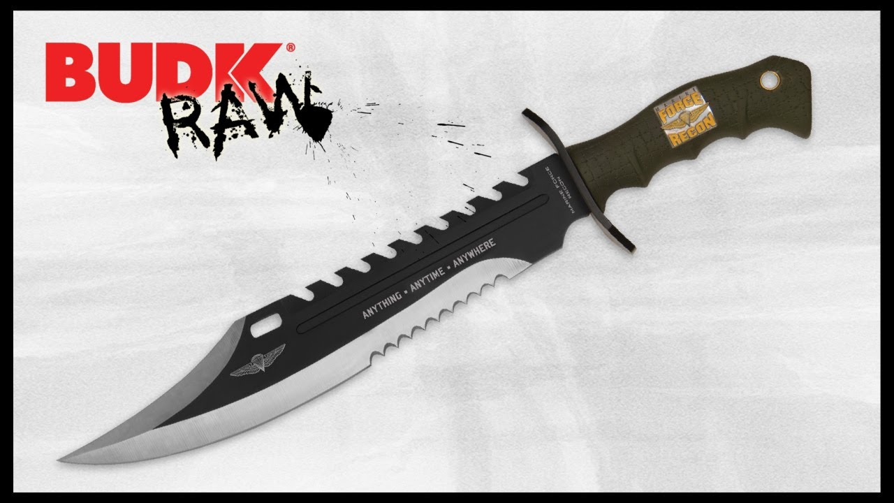 Anything Anytime Anywhere Marine Recon Bowie Knife