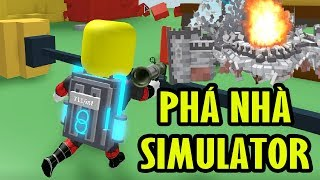 Roblox | Break The House Simulator-Game Cafe For Yourself Ever Playing | Destruction Simulator | MinhMaMa