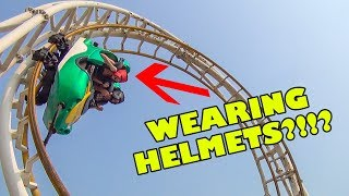 Roller Coaster that REQUIRES Wearing a Helmet!!! Would YOU Ride This???