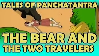 Tales Of Panchatantra | The Bear and The Two Travelers | English | KidRhymes