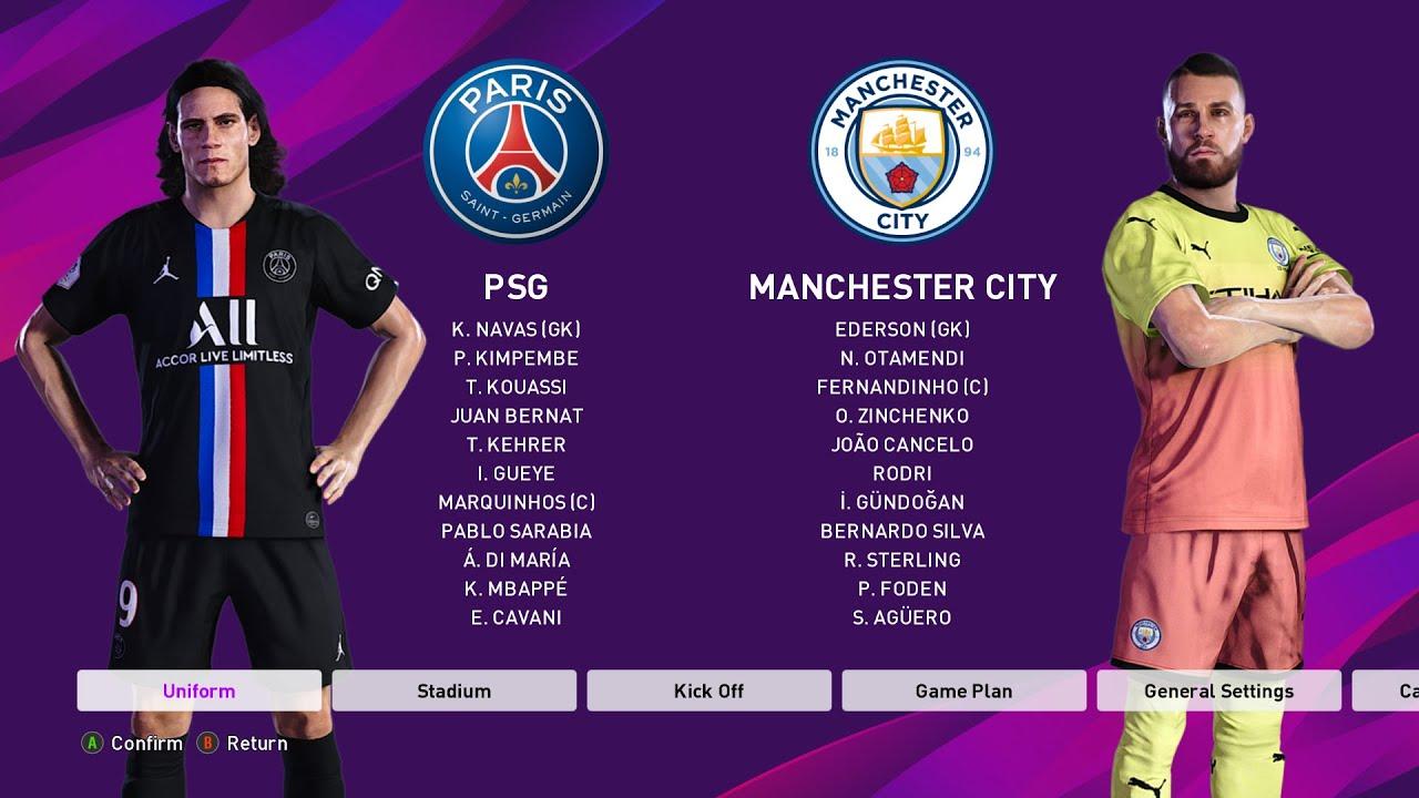 PES 2020- PSG vs Manchester City- Epic Comeback- eFootball ...