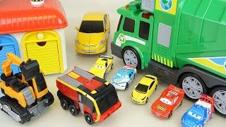 Car toys play CarBot transformers and mini cars
