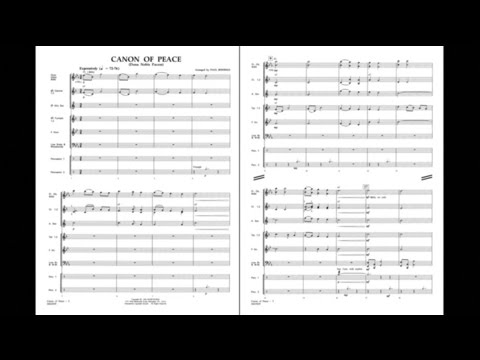 Canon for Peace Dona Nobis Pacem arranged by Paul Jennings