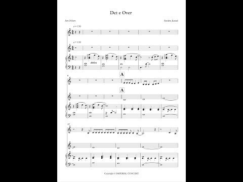 """Det e Over"" Sondre Justad sheet music score"