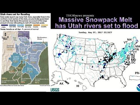 Massive Snowpack melt has Utah rivers ready to Flood.