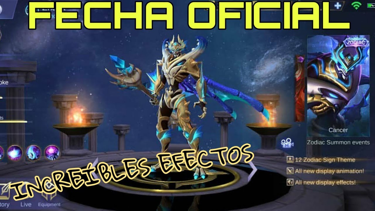 zhask new skin zodiaco cancer 💰😱 - efectos insanos