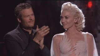 Proud Blake Shelton Gives Gwen Stefani Standing Ovation Following Emotional 'Voice' Performance