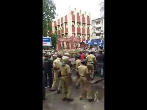 Protest  against Kerala High court  Decision . After cow slaughter....