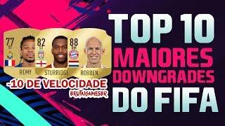 TOP 10 MAIORES QUEDAS DE OVERALL NO FIFA!