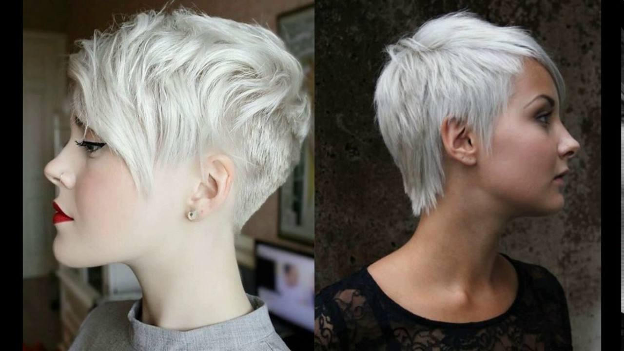 short pixie haircuts for gray hair - youtube