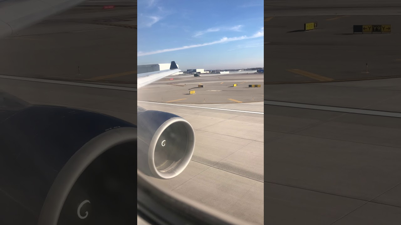 Delta Airbus A330-300 takeoff from Detroit bound for Honolulu