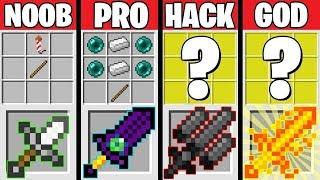 Minecraft Battle: SUPER SWORD CHALLENGE! NOOB vs PRO vs HACKER vs GOD in Minecraft Animation