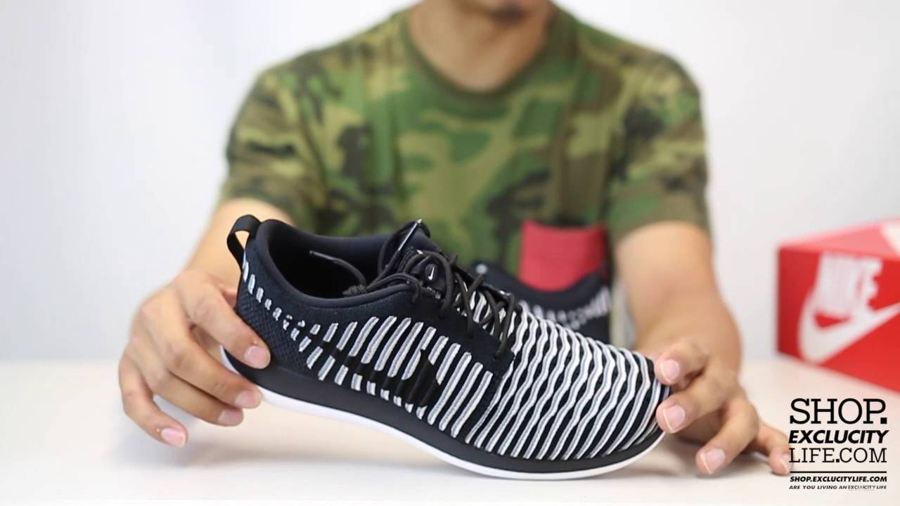 best website cf6fa 1a0fa Women's Nike Roshe Two Flyknit - Black - Cool Grey - Unboxing Video at  Exclucity
