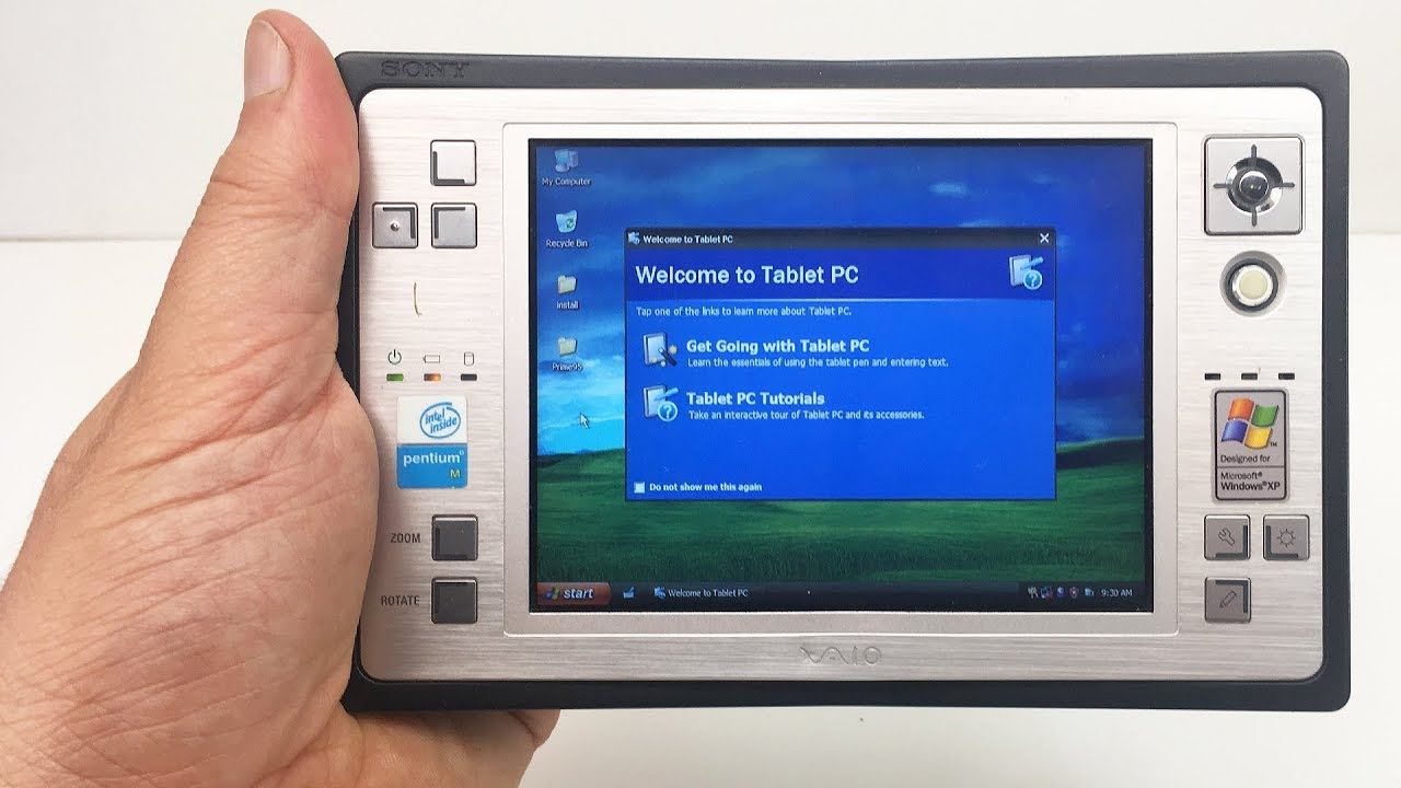 Handheld VAIO Retro Modded with XP Tablet Edition