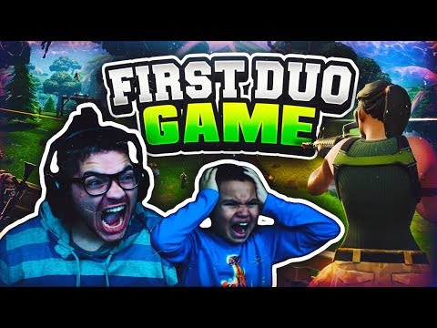 9 YEAR OLD BROTHER & MINDOFREZ PLAY DUOS FOR THE FIRST TIME IN FORTNITE BATTLE ROYALE FUNNY MOMENTS