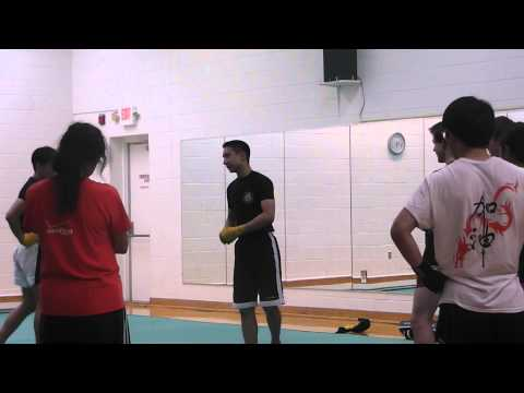 UMBC Wushu Sanshou @ Virginia Wushu Club Sanshou Practice - Part 2