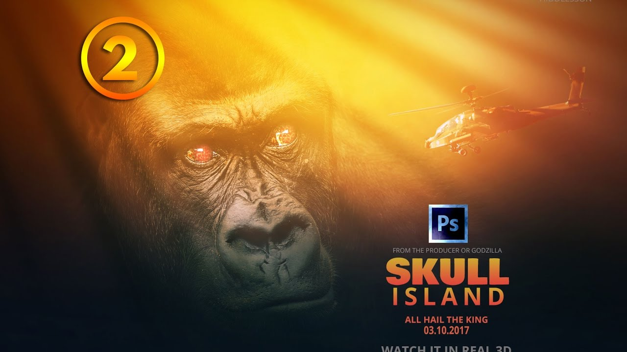 2017 Movie Posters: 2 King Kong Skull Island 2017 Movie Poster Photo