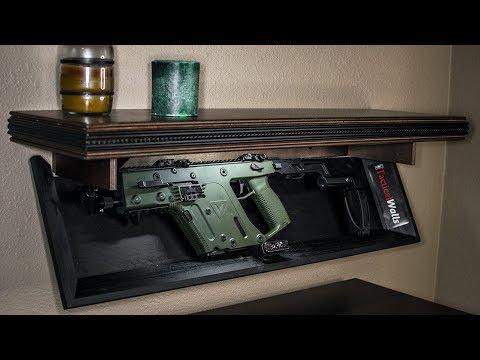 Hidden gun storage secret compartment
