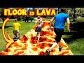 watch he video of THE FLOOR is LAVA in HOTEL