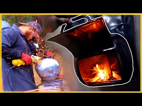 DIY Making A Wood Burning Stove For A Camper Trailer