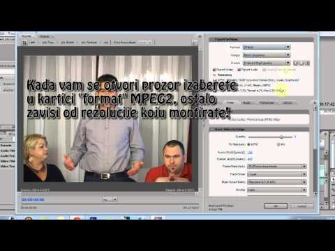 How to export video in MPEG2 - Premiere Pro CS3