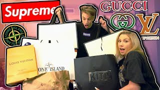 OUR AWESOME NYC SHOPPING SPREE!!! (Supreme, Gucci, LV, + MORE!)