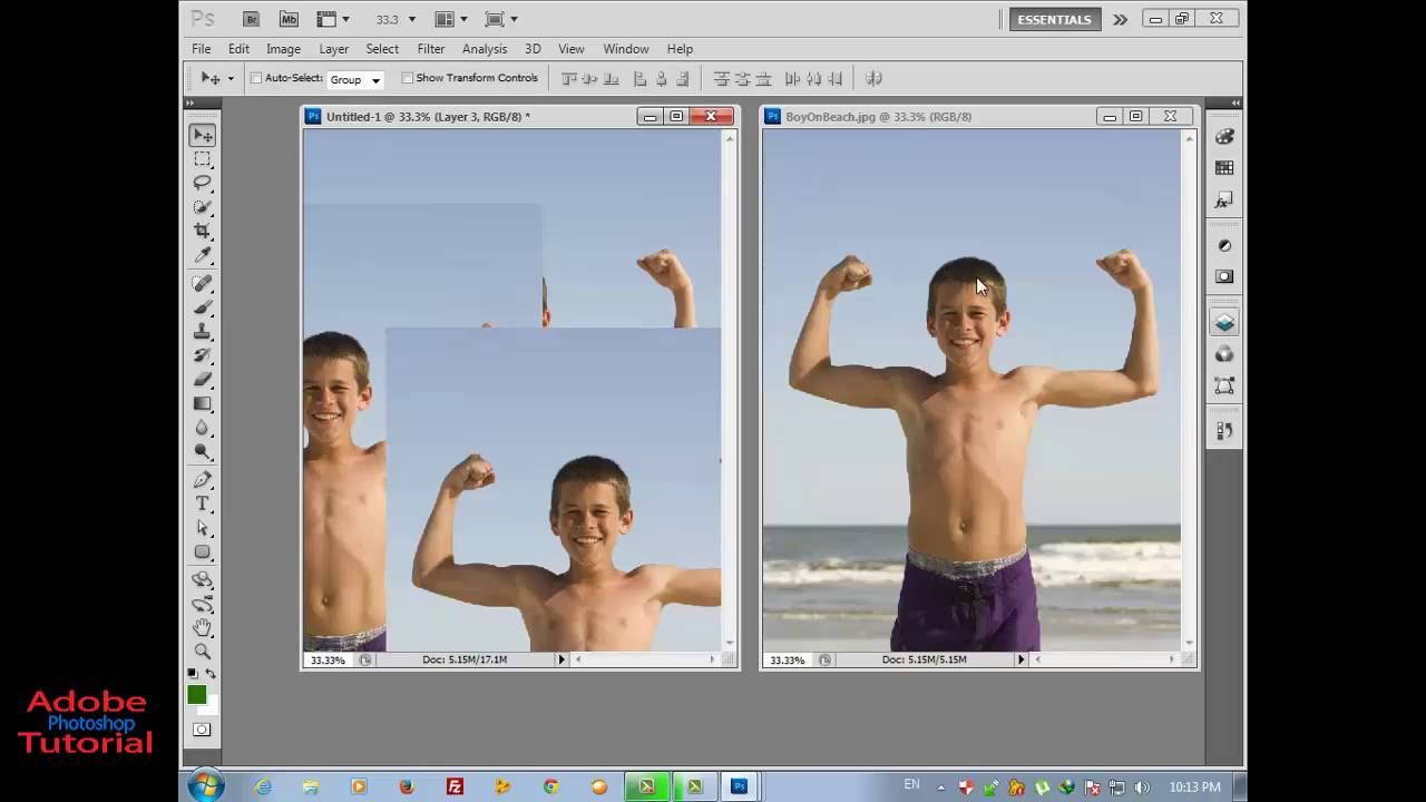 How To Use Move Tool Tutorial Videos  Adobe Photoshop Cs5