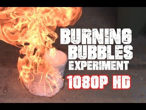 Burning Bubbles Experiment! - HD 1080p