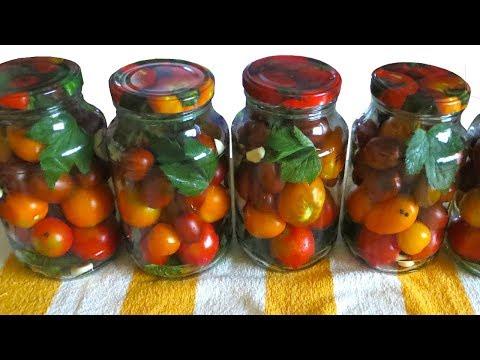 Маринованные Помидоры на зиму РЕЦЕПТ НА ЛЮБОЙ РАЗМЕР БАНКИ 🍅 Маринад сладкий, помидоры вкуснейшие !