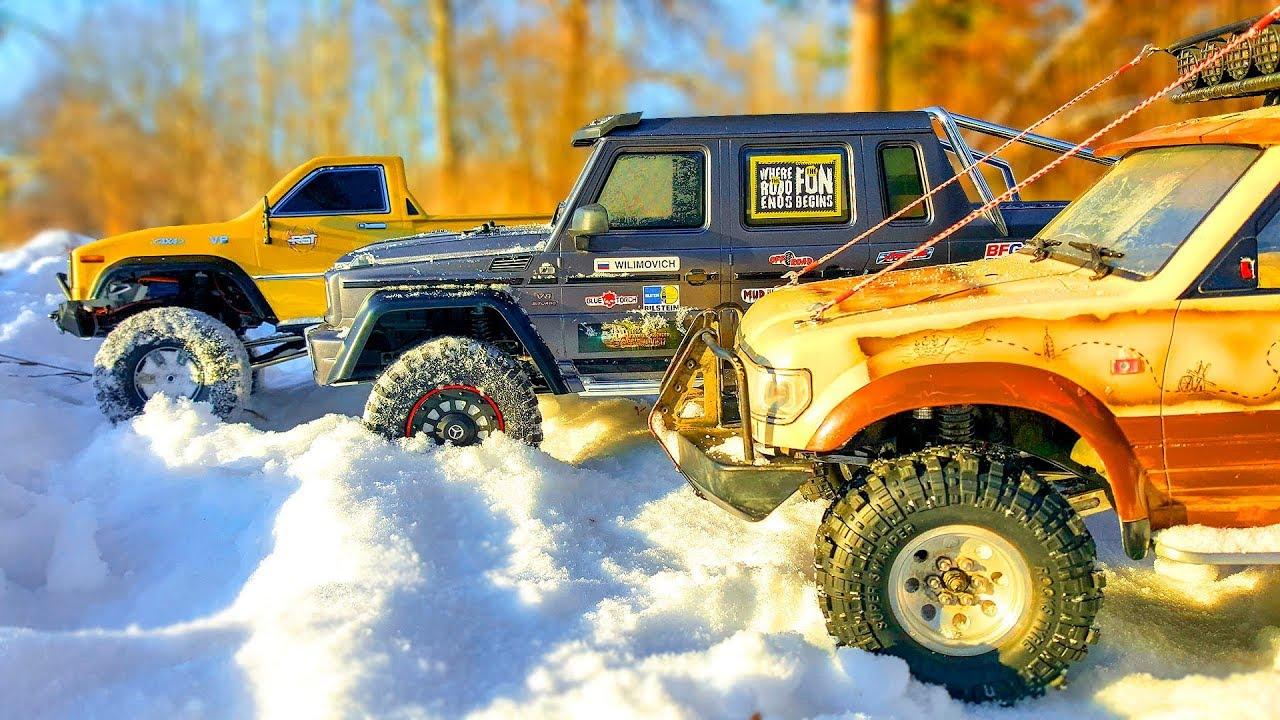 RC Cars SNOW Racing – Traxxas TRX6 6x6, Toyota Land Cruiser 80, RGT | Wilimovich