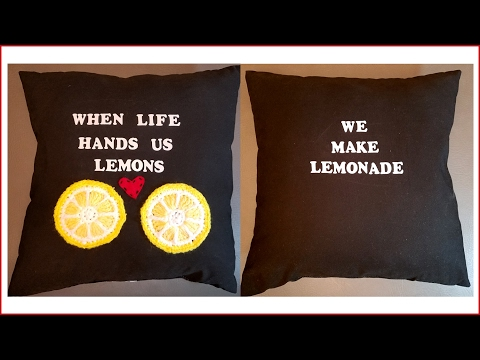 Crochet Tutorial: Lemons to Lemonade Pillow Cushion