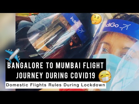 AIRPORT NEW RULES DURING LOCKDOWN ✈️ | Bangalore to Mumbai Flight during Covid19 | Domestic Flights