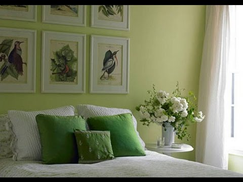 Green With Envy Colors Bedroom - YouTube