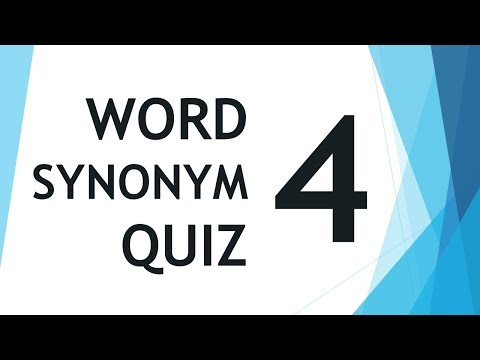 Will You Pass Word Synonym Quiz ?? Episode 04