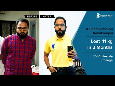 Transformation Stories | Bharanidharan's inspiring 11 kg weight loss journey | HealthifyMe Mp3