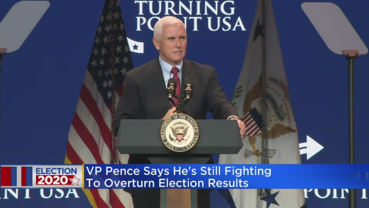 Vice President Mike Pence Says He's Still Fighting To Overturn Election Results