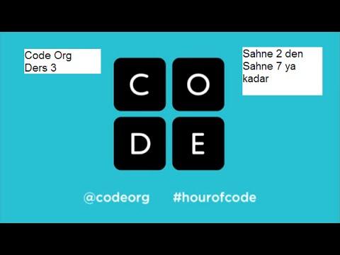 Code org ders 3 sahne 2 den sahne 7 ya kadar çözümleri #4
