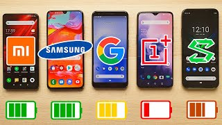 Xiaomi Mi 9T vs Galaxy A70 vs Pixel 3a XL vs OnePlus 7 vs BlackShark 2 | EXTREME BATTERY TEST!!