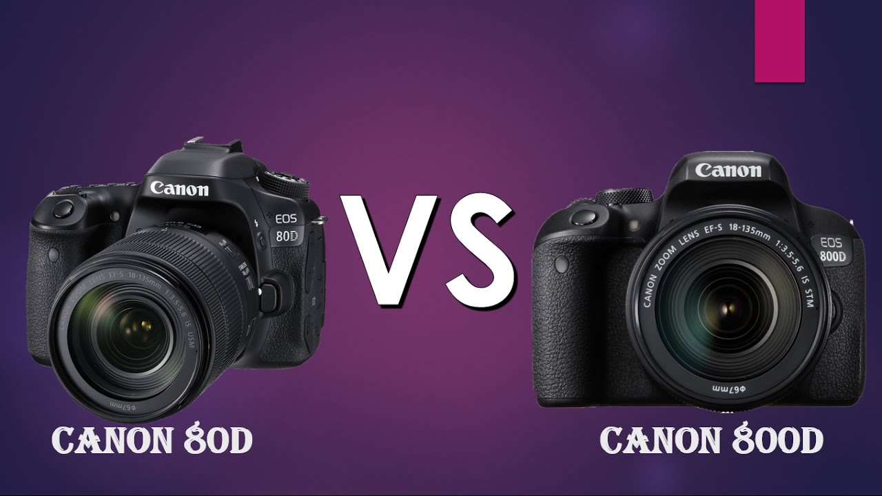 Canon 80D vs Canon 800D (Rebel T7i) (STRAIGHT TO THE POINT)