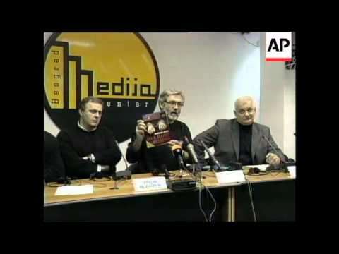 SERBIA: BELGRADE: 2 PROMINENT EDITORS APPEAR IN COURT