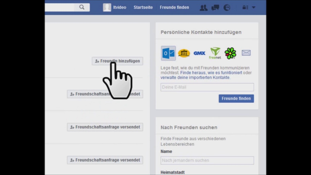 Facebook freundschaftsanfragen anzeigen