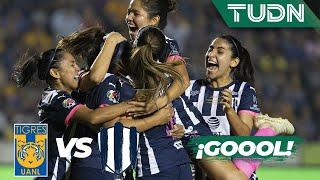 ¡Annia Mejía lo empata!   Tigres 1 - 0 Rayadas   Liga MX Femenil - Final - AP 19   TUDN