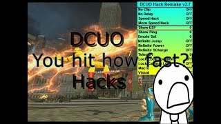How to map/speed hack DCUO pc only