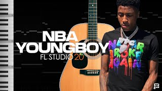 How To Make A BOUNCY MELODIC Beat From Scratch For NBA YOUNGBOY  FL Studio 20 Tutorial