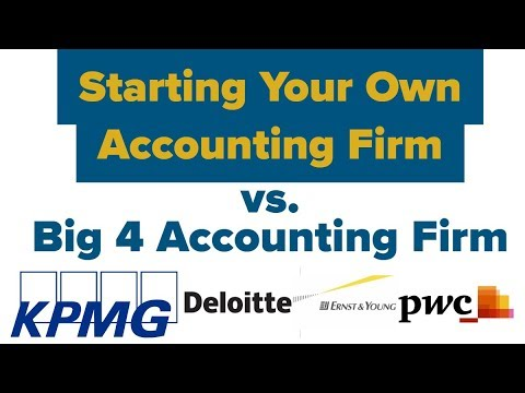 Big 4 Accounting Firm Vs. Starting Your Own Business (Deloitte KPMG, Ernst & Young PWC #cpaexam #cpa